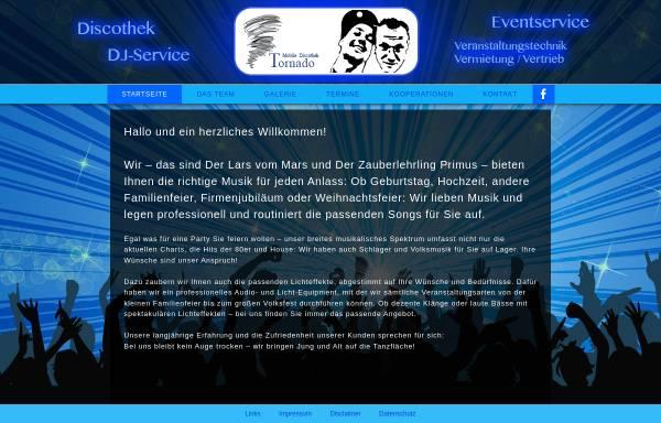 Vorschau von www.mobile-discothek-tornado.de, Mobile Discothek Tornado