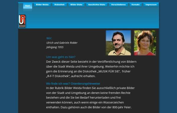 Vorschau von www.ridder-weida.de, Mobile Discothek Weida