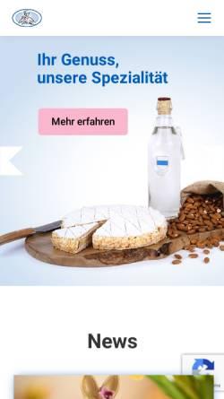 Vorschau der mobilen Webseite www.beck-nussbaumer.ch, Nussbaumer AG