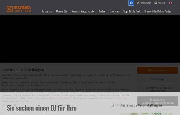 Vorschau von www.mrmac.de, Mr. Mac's Party Team