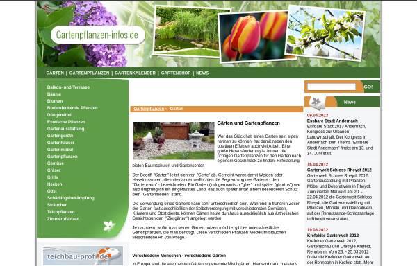 Vorschau von www.gartenpflanzen-infos.de, Gartenpflanzen