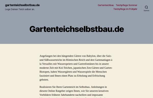 Vorschau von www.gartenteichselbstbau.de, Gartenteich im Selbstbau