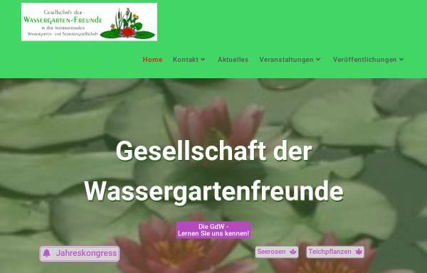 Vorschau von www.wassergarten.de, Gesellschaft der Wassergarten-Freunde e.V.
