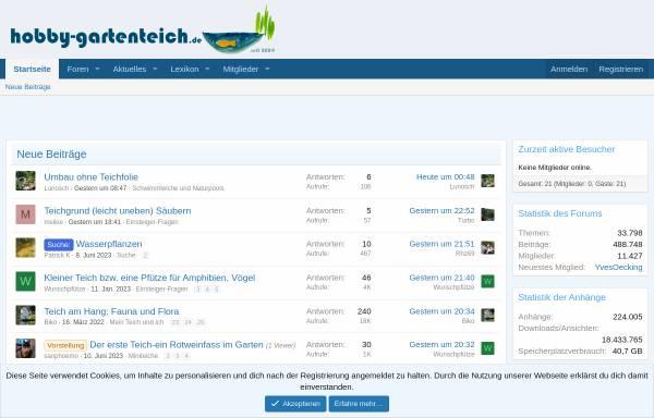 Vorschau von www.hobby-gartenteich.de, Hobby-Gartenteichforum