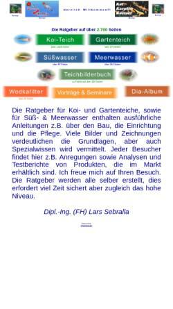 Vorschau der mobilen Webseite www.teichratgeber.de, Der Ratgeber für den Gartenteich