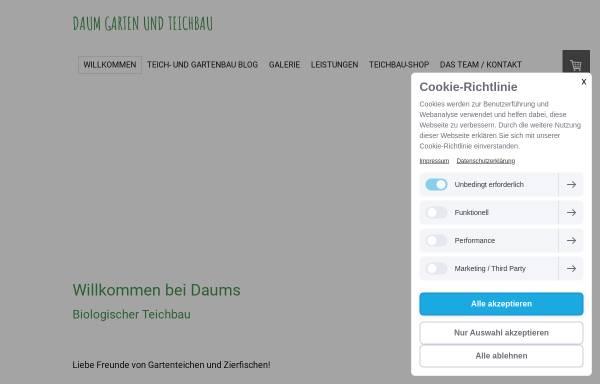 Vorschau von www.zeolith.de, Ratgeber Teichbau