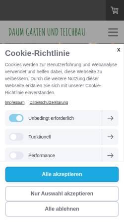 Vorschau der mobilen Webseite www.zeolith.de, Ratgeber Teichbau