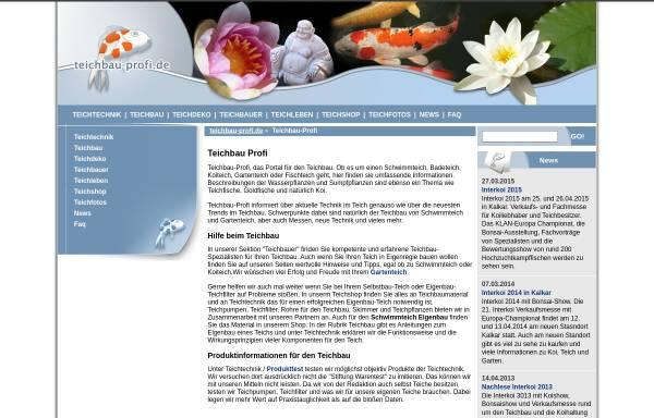 Vorschau von www.teichbau-profi.de, Teichbau Profis, Wiedamann Media