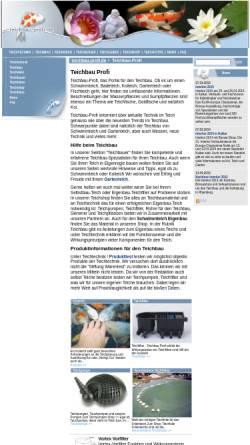 Vorschau der mobilen Webseite www.teichbau-profi.de, Teichbau Profis, Wiedamann Media