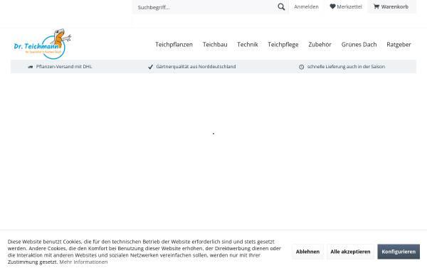 Vorschau von www.teich-mann.de, Teichmann