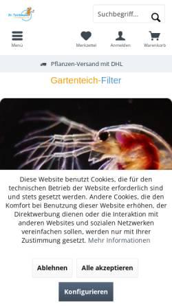 Vorschau der mobilen Webseite www.teich-mann.de, Teichmann