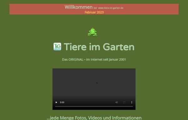 Vorschau von www.tiere-im-garten.de, Tiere im Garten und Gartenteich