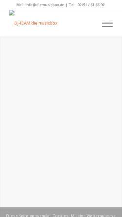 Vorschau der mobilen Webseite www.diemusicbox.de, Die Musicbox