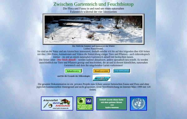 Vorschau von www.hydro-kosmos.de, Zwischen Gartenteich und Feuchtbiotop