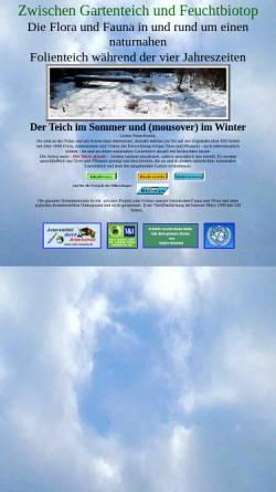 Vorschau der mobilen Webseite www.hydro-kosmos.de, Zwischen Gartenteich und Feuchtbiotop