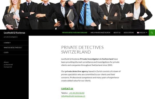 Vorschau von www.leuthold-kostenas.ch, Detektei Leuhold & Kostenas