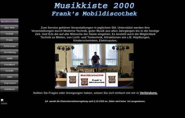 Vorschau von www.musikkiste2000.de, Musikkiste 2000