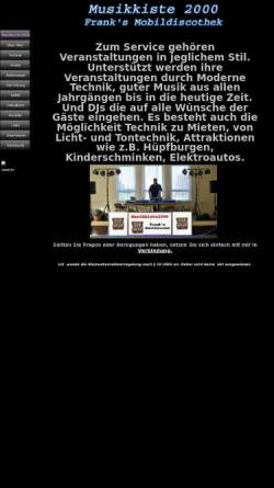 Vorschau der mobilen Webseite www.musikkiste2000.de, Musikkiste 2000
