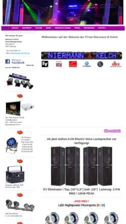Vorschau der mobilen Webseite www.niermann-und-kelch.de, Niermann und Kelch
