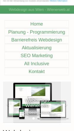 Vorschau der mobilen Webseite www.wienerweb.at, Manfred Reisinger
