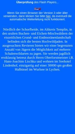 Vorschau der mobilen Webseite www.brandenburg-jagd.de, Brandenburg-Jagd