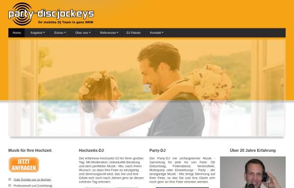 Vorschau von www.party-discjockeys.de, Party Discjockeys