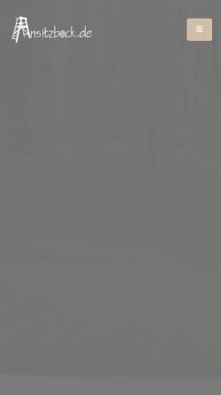 Vorschau der mobilen Webseite www.ansitzeinrichtungen.de, Helge Debray Ansitzeinrichtungen