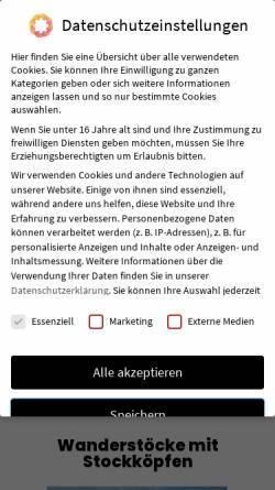 Vorschau der mobilen Webseite www.jagd-schnitzerei-shop.de, Jagd Schnitzerei Peter am Rennsteig