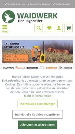Vorschau der mobilen Webseite www.waidwerk.de, WaidWerk