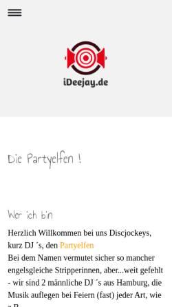 Vorschau der mobilen Webseite www.partyelfen.de, Partyelfen