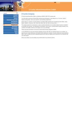 Vorschau der mobilen Webseite www.dcunha-cnc.com, D´Cunha Industriemaschinen GmbH