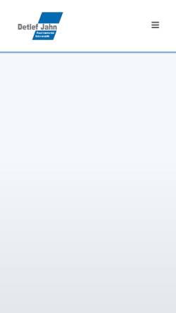 Vorschau der mobilen Webseite www.langdreher.de, Detlef Jahn GmbH