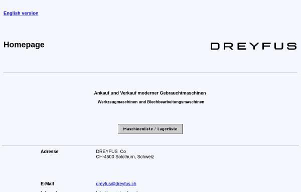 Vorschau von www.dreyfus.ch, Dreyfus Co., Inh. Max Dreyfus