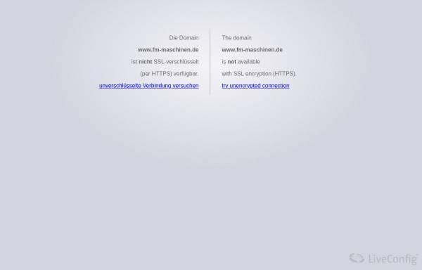 Vorschau von www.fm-maschinen.de, FM-Maschinen, Inh. Andreas Franz