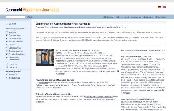 Vorschau von www.gebrauchtmaschinen-journal.de, Gebrauchtmaschinen-Journal.de