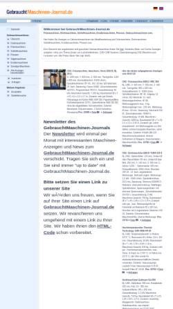 Vorschau der mobilen Webseite www.gebrauchtmaschinen-journal.de, Gebrauchtmaschinen-Journal.de