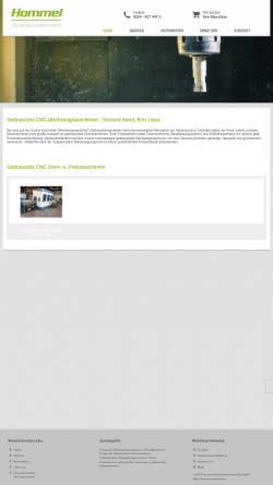 Vorschau der mobilen Webseite www.hogema.de, Hommel Maschinentechnik GmbH