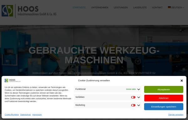 Vorschau von www.hoos-maschinen.de, Hoos Werkzeugmaschinen, Inh. Bernd Hoos