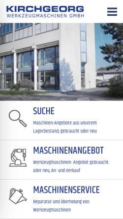 Vorschau der mobilen Webseite www.kirchgeorg.de, Kirchgeorg Werkzeugmaschinen GmbH