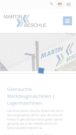 Vorschau der mobilen Webseite www.beschle-gmbh.de, Martin Beschle GmbH