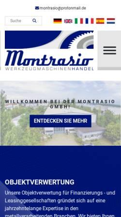 Vorschau der mobilen Webseite montrasio-gmbh.de, Montrasio GmbH