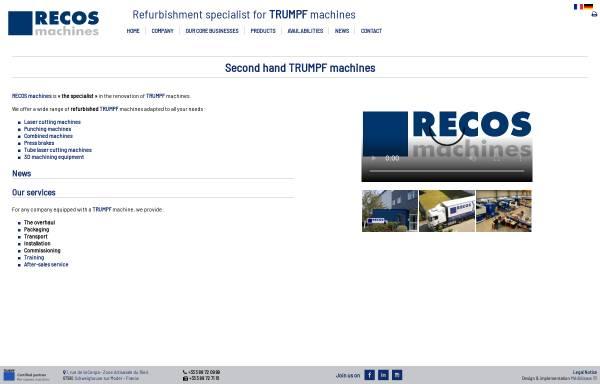 Vorschau von www.recos.fr, Recos Machines SARL