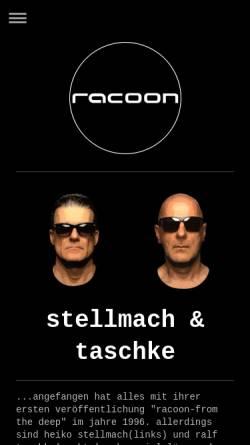 Vorschau der mobilen Webseite www.racoon-djs.de, Racoon DJs