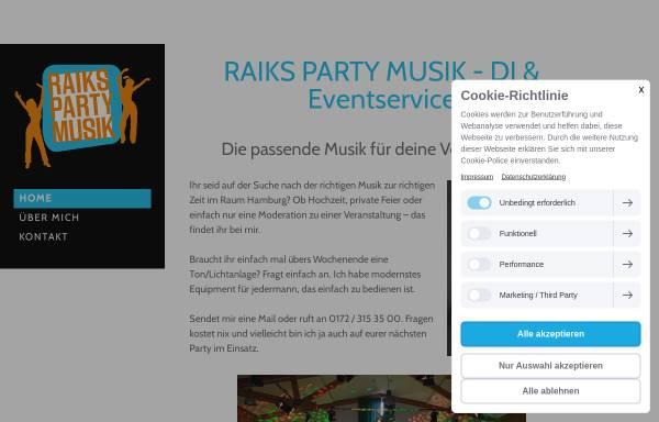 Vorschau von www.raikspartymusik.de, RaiksPartyMusik