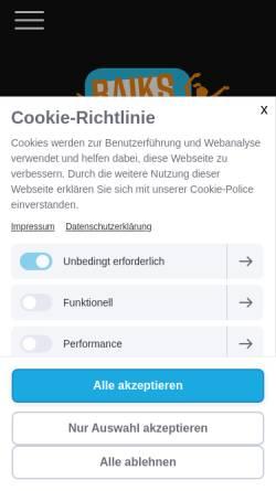 Vorschau der mobilen Webseite www.raikspartymusik.de, RaiksPartyMusik