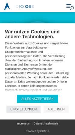 Vorschau der mobilen Webseite www.radio-oberland.de, Radio Oberland