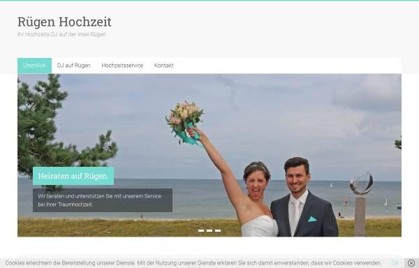 Vorschau von www.ruegen-hochzeit.de, Rügen Hochzeit