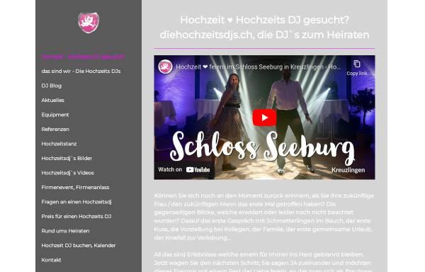 Vorschau von www.diehochzeitsdjs.ch, Die Schweizer Hochzeits-DJs