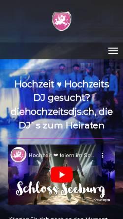 Vorschau der mobilen Webseite www.diehochzeitsdjs.ch, Die Schweizer Hochzeits-DJs