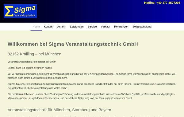 Vorschau von www.sigma-event.de, Sigma Veranstaltungstechnik GmbH